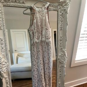 LuLu's White Lace Jumpsuit
